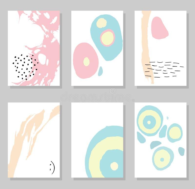 Δημιουργικές καθιερώνουσες τη μόδα κάρτες διανυσματική απεικόνιση