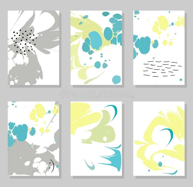 Δημιουργικές καθιερώνουσες τη μόδα κάρτες απεικόνιση αποθεμάτων