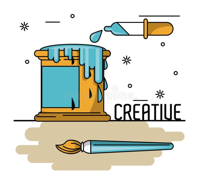 Δημιουργικές χρώματα και ιδέες ελεύθερη απεικόνιση δικαιώματος