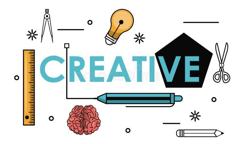 Δημιουργικές χρώματα και ιδέες απεικόνιση αποθεμάτων