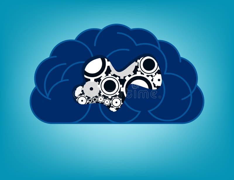 Δημιουργική έννοια εγκεφάλου υγειονομικής περίθαλψης εγκέφαλος υγιής Διανυσματική απεικόνιση υγείας έννοιας διανυσματική απεικόνιση