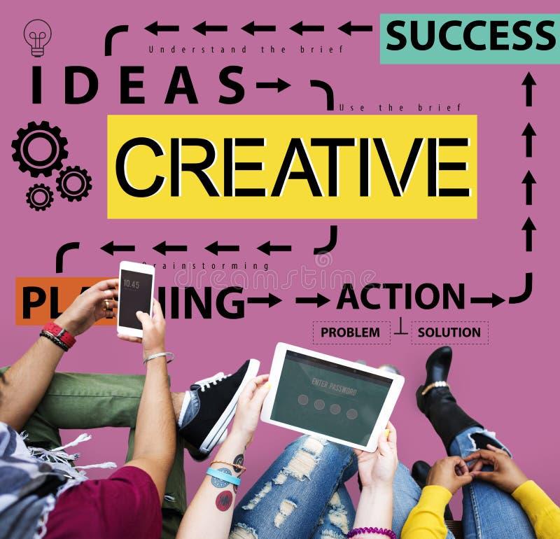 Δημιουργική έννοια δημιουργικότητας έμπνευσης φαντασίας ιδεών σχεδίου στοκ εικόνα