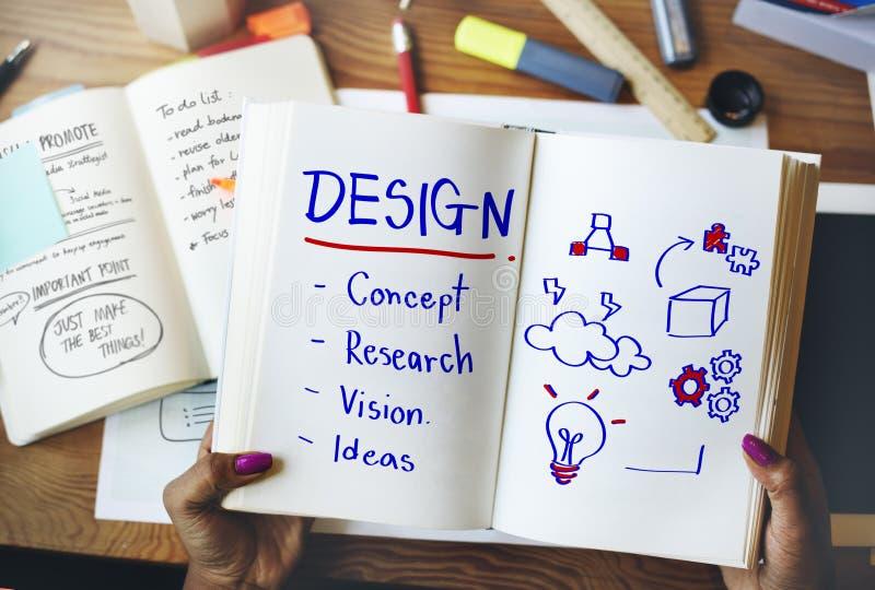 Δημιουργική έννοια σκέψης σχεδίου ανάπτυξης έμπνευσης στοκ φωτογραφία