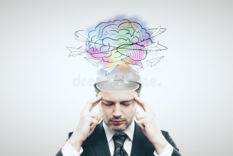 Δημιουργική έννοια σκέψης στοκ φωτογραφία με δικαίωμα ελεύθερης χρήσης