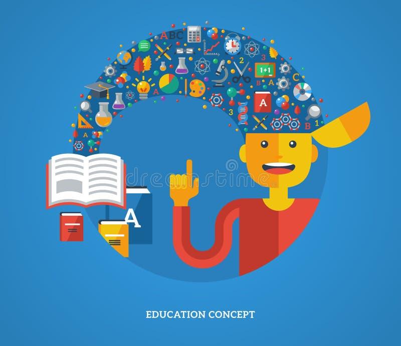 Δημιουργική έννοια της εκπαίδευσης επίσης corel σύρετε το διάνυσμα απεικόνισης διανυσματική απεικόνιση