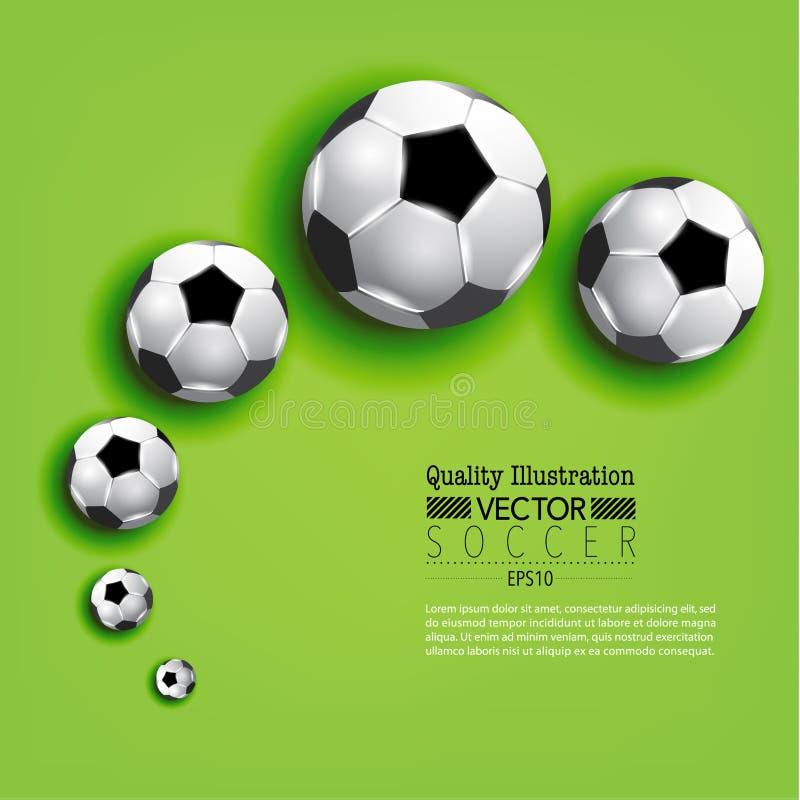 Δημιουργική αθλητική διανυσματική απεικόνιση ποδοσφαίρου ποδοσφαίρου ελεύθερη απεικόνιση δικαιώματος