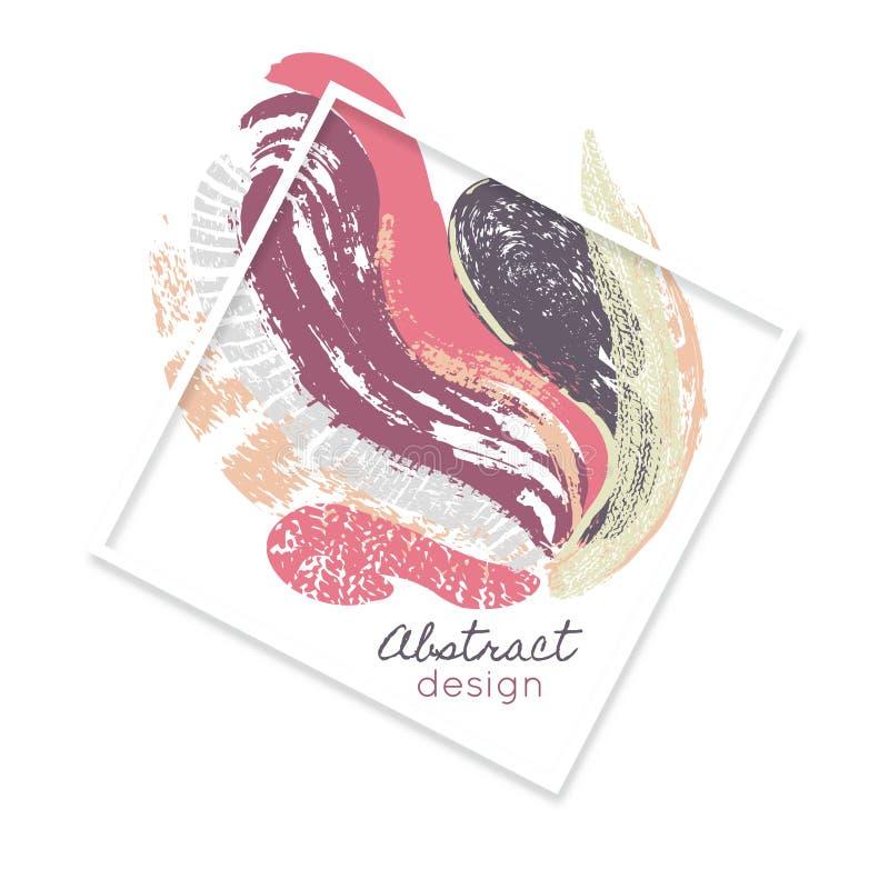 Δημιουργική αφηρημένη ανασκόπηση τέχνη παφλασμός χρωμάτων επίχρισμα ζωηρόχρωμη σύσταση Κηλίδες χρώματος Πλαίσιο διανυσματική απεικόνιση