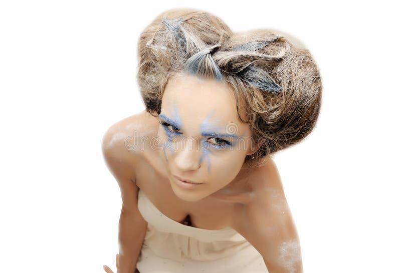 Δημιουργική γυναίκα νυφών στοκ φωτογραφία