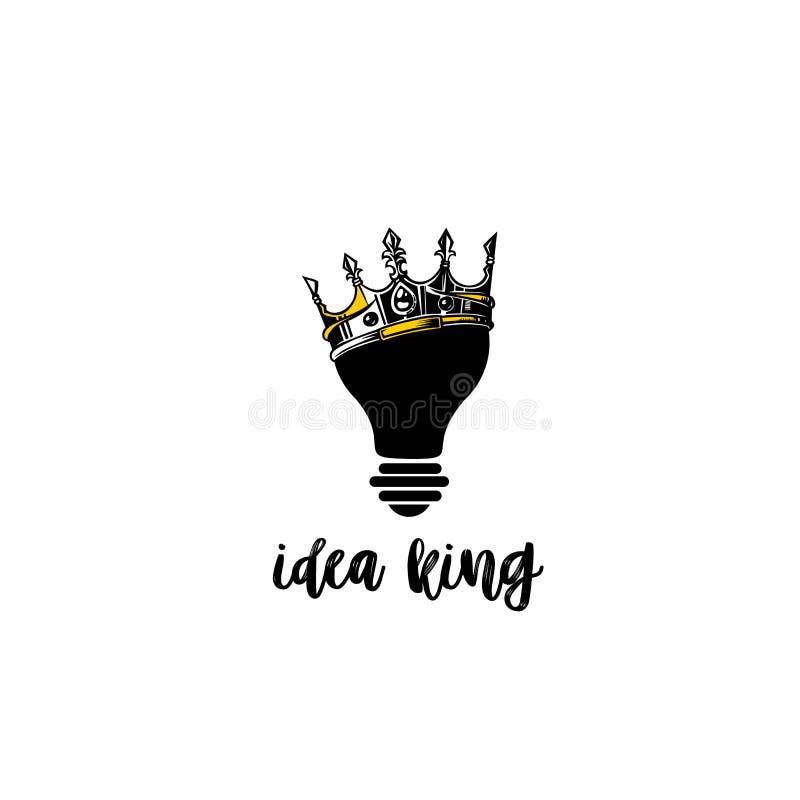 Δημιουργική διανυσματική απεικόνιση βασιλιάδων ιδέας, κορώνα στη διανυσματική απεικόνιση βολβών απεικόνιση αποθεμάτων