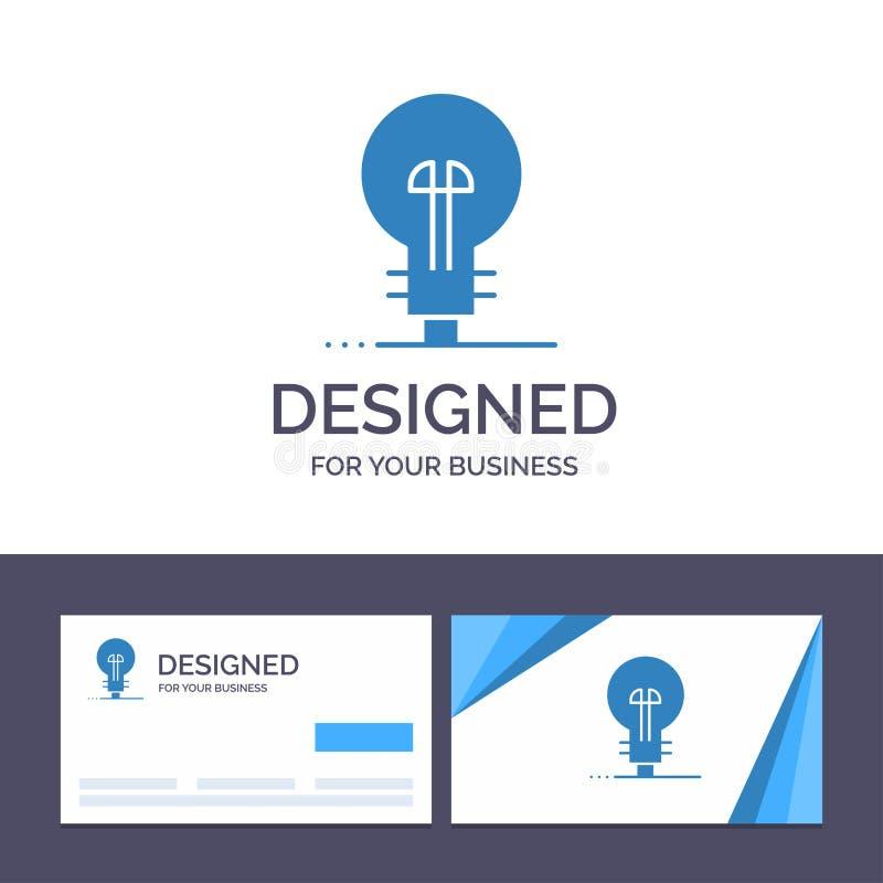 Δημιουργική επιχείρηση προτύπων επαγγελματικών καρτών και λογότυπων, καθορισμός, διαχείριση, διανυσματική απεικόνιση προϊόντων ελεύθερη απεικόνιση δικαιώματος