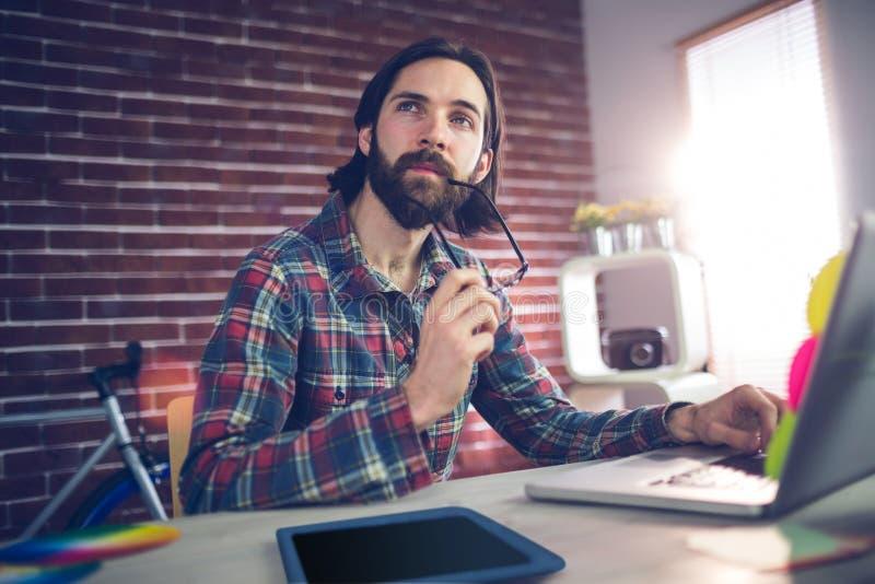 Δημιουργική εργασία επιχειρηματιών στην αρχή στοκ φωτογραφία με δικαίωμα ελεύθερης χρήσης