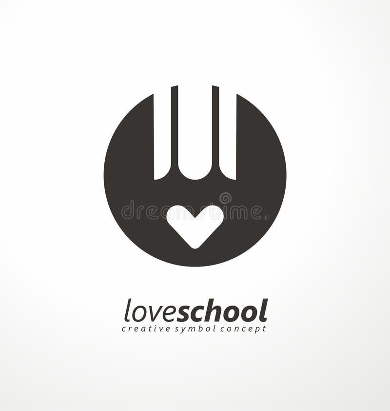 Δημιουργική ιδέα συμβόλων με το μολύβι και την καρδιά ελεύθερη απεικόνιση δικαιώματος
