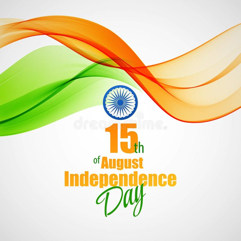 Δημιουργική ινδική έννοια ημέρας της ανεξαρτησίας διάνυσμα ελεύθερη απεικόνιση δικαιώματος