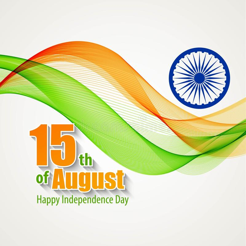 Δημιουργική ινδική έννοια ημέρας της ανεξαρτησίας διάνυσμα απεικόνιση αποθεμάτων