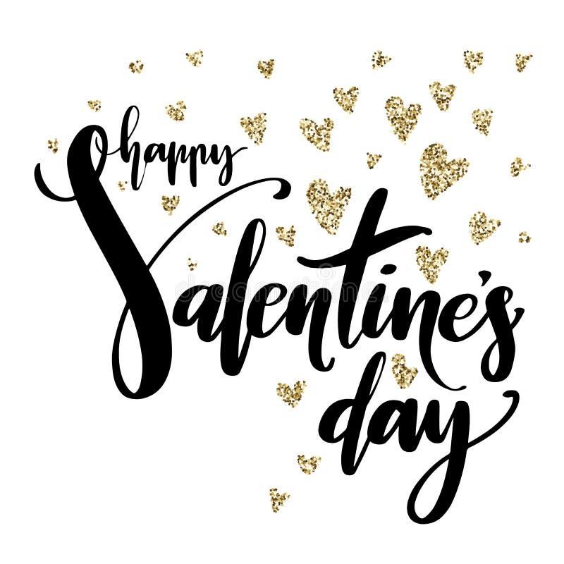 Δημιουργική καλλιτεχνική συρμένη χέρι κάρτα ημέρας βαλεντίνων επίσης corel σύρετε το διάνυσμα απεικόνισης ρομαντικό πρότυπο Ευτυχ απεικόνιση αποθεμάτων