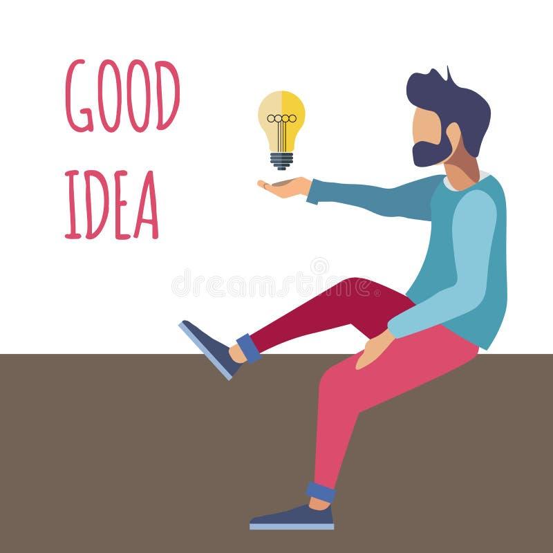 Δημιουργική λύση, καλή διανυσματική απεικόνιση ιδέας ελεύθερη απεικόνιση δικαιώματος