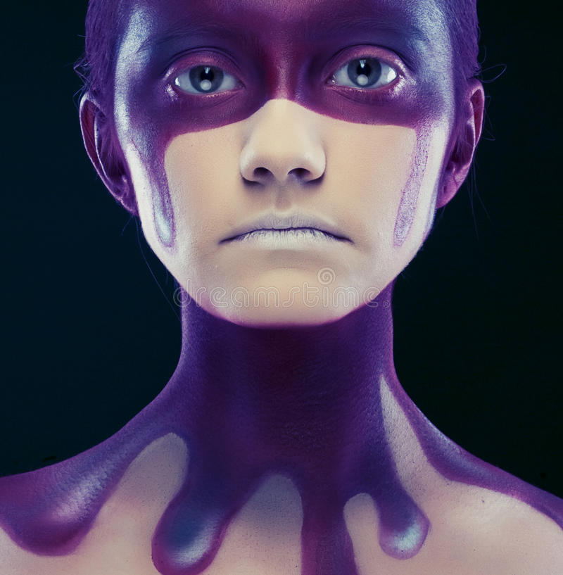 Δημιουργική πρόσωπο-τέχνη στοκ εικόνα με δικαίωμα ελεύθερης χρήσης