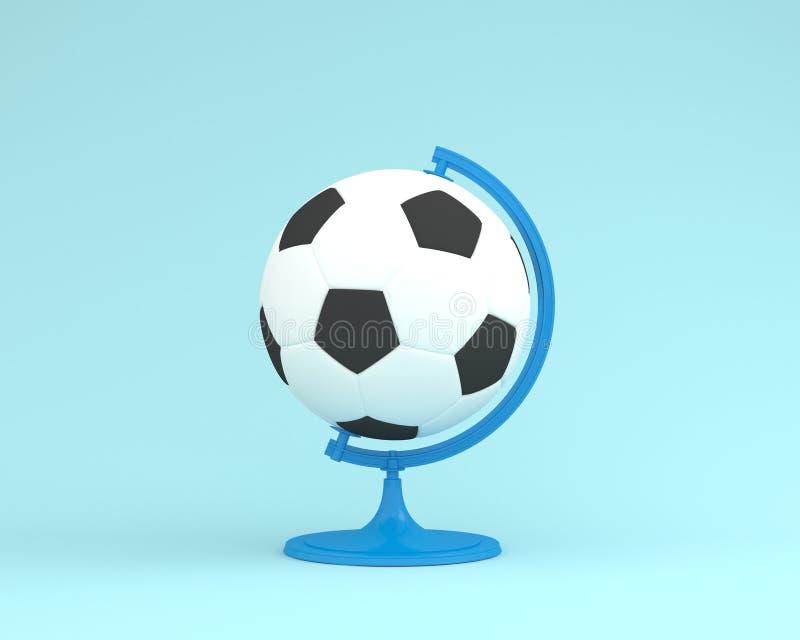 Δημιουργική σφαίρα σφαιρών ποδοσφαίρου σχεδιαγράμματος ιδέας ο σφαίρα στο blu κρητιδογραφιών στοκ εικόνα με δικαίωμα ελεύθερης χρήσης