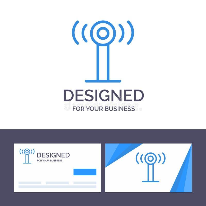 Δημιουργική υπηρεσία προτύπων επαγγελματικών καρτών και λογότυπων, σήμα, διανυσματική απεικόνιση Wifi ελεύθερη απεικόνιση δικαιώματος