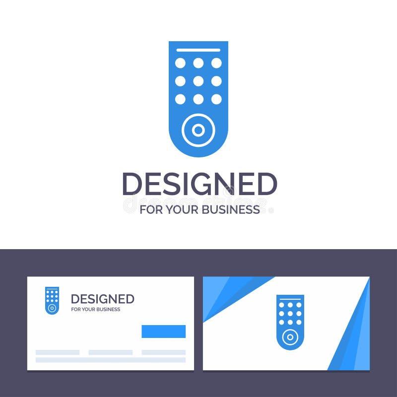 Δημιουργικός έλεγχος προτύπων επαγγελματικών καρτών και λογότυπων, μακρινός, διανυσματική απεικόνιση TV απεικόνιση αποθεμάτων
