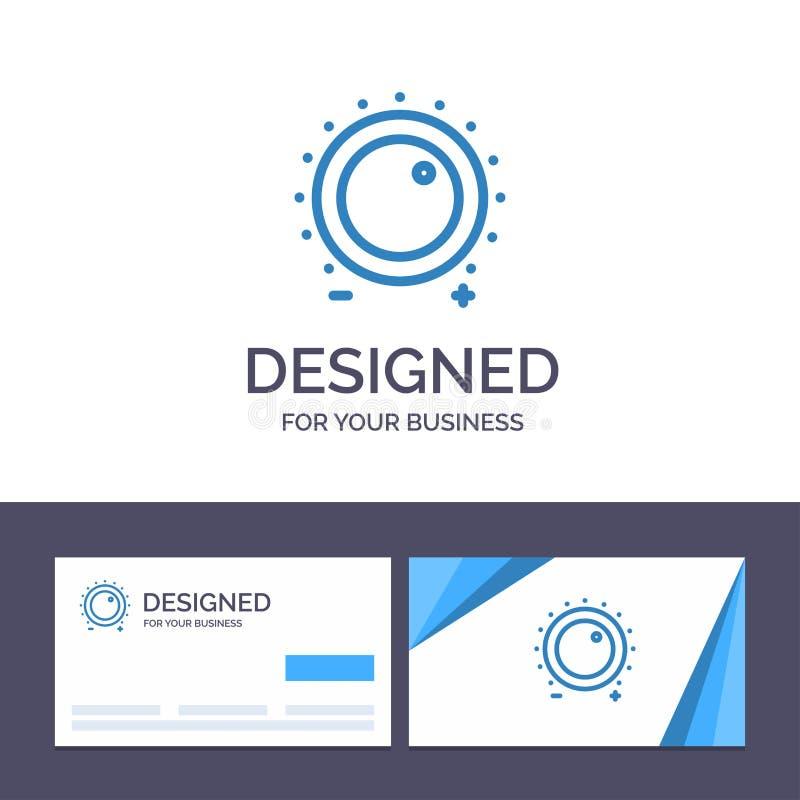 Δημιουργικός ήχος προτύπων επαγγελματικών καρτών και λογότυπων, έλεγχος, κέρδος, επίπεδο, υγιής διανυσματική απεικόνιση ελεύθερη απεικόνιση δικαιώματος