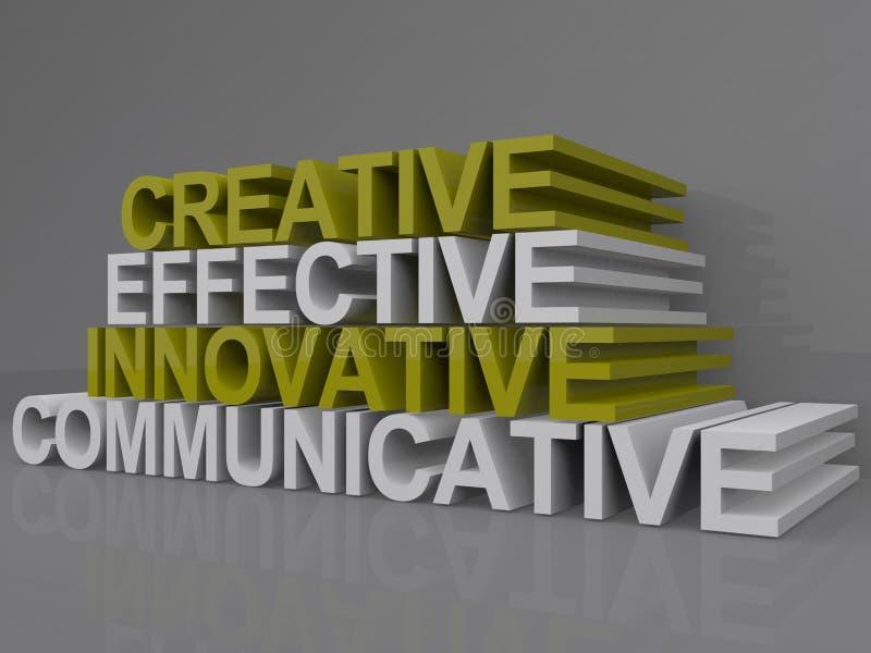 Δημιουργικός αποτελεσματικός καινοτόμος επικοινωνιακός ελεύθερη απεικόνιση δικαιώματος