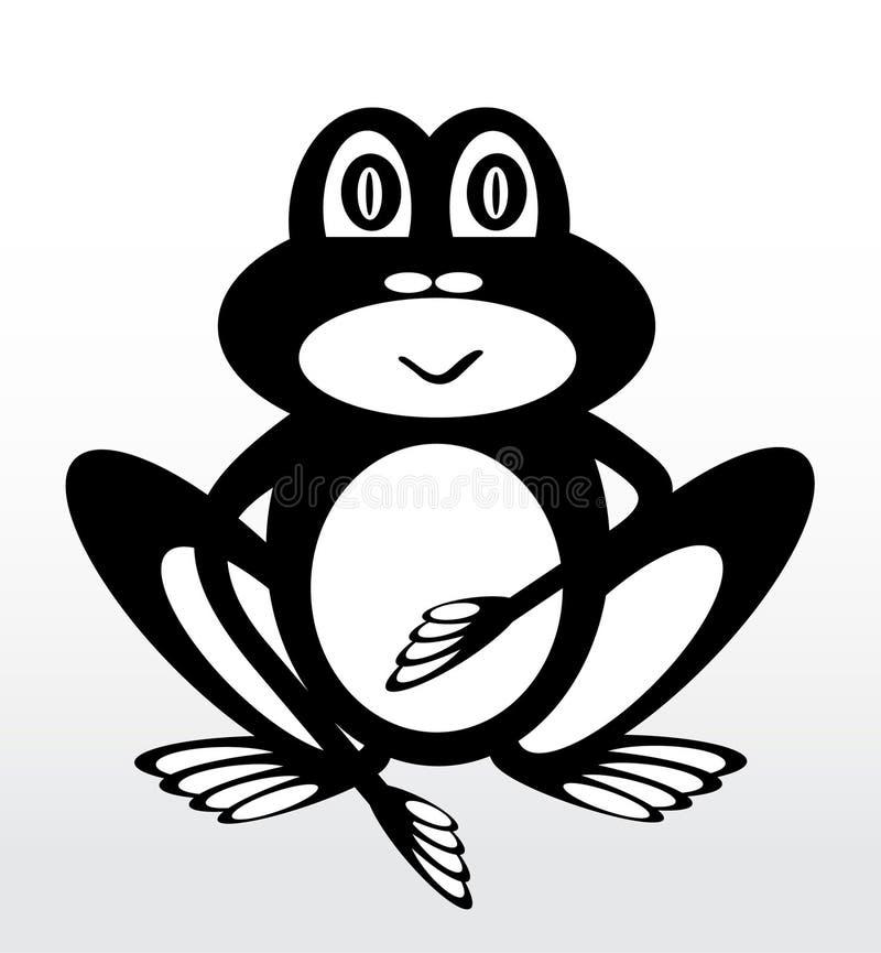 Δημιουργικός βάτραχος σε ένα ελαφρύ υπόβαθρο διανυσματική απεικόνιση