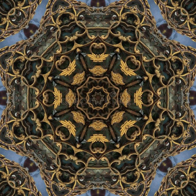 Δημιουργικός για το υπόβαθρο Floral διακόσμηση ύφους φαντασίας Για το ύφασμα, τυπωμένη ύλη, περσική ανακούφιση διακοσμήσεων ταπήτ στοκ εικόνα
