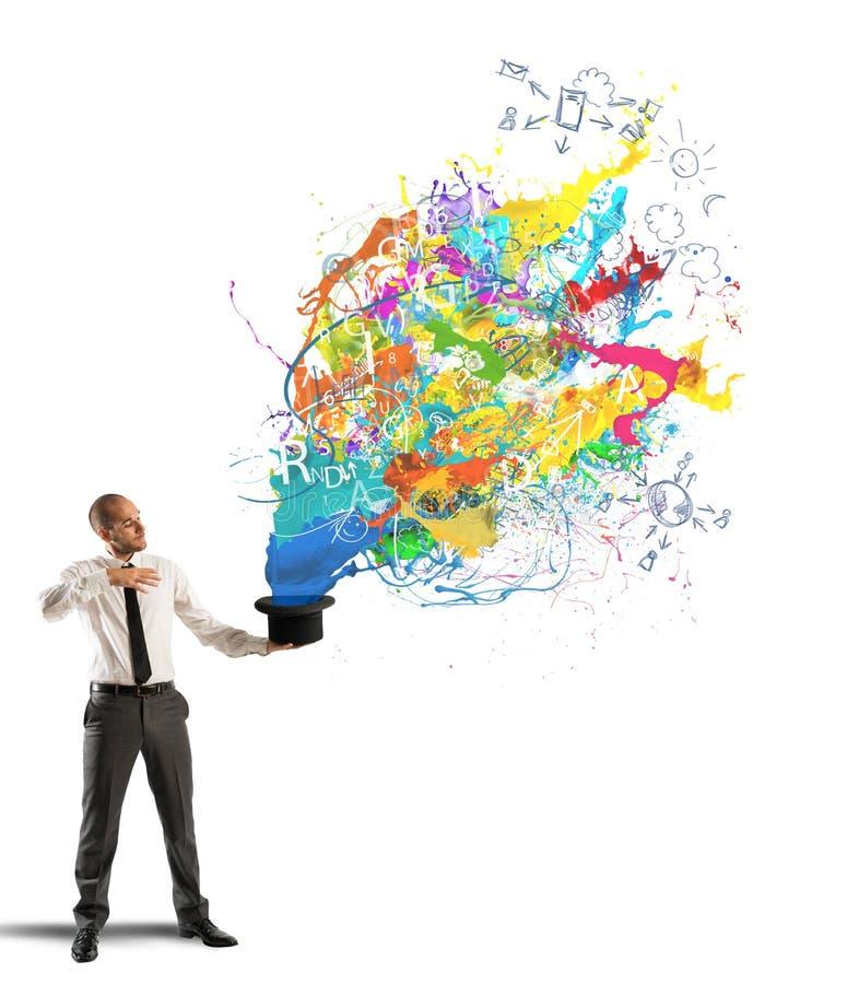 Δημιουργικός επιχειρηματίας στοκ εικόνες