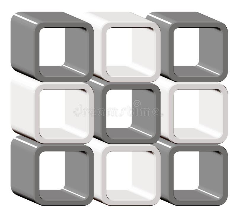 δημιουργικός κύβος ανασκόπησης διανυσματική απεικόνιση