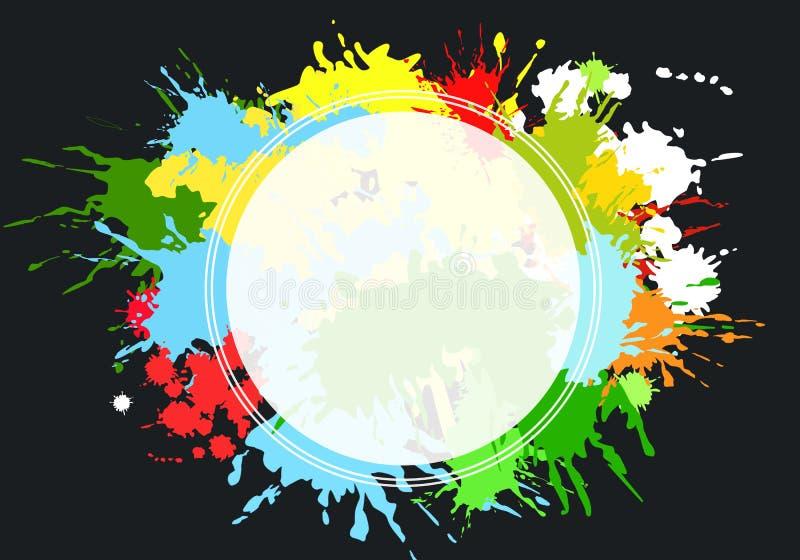 Δημιουργικός στρογγυλός πίνακας διαφημίσεων διανυσματική απεικόνιση