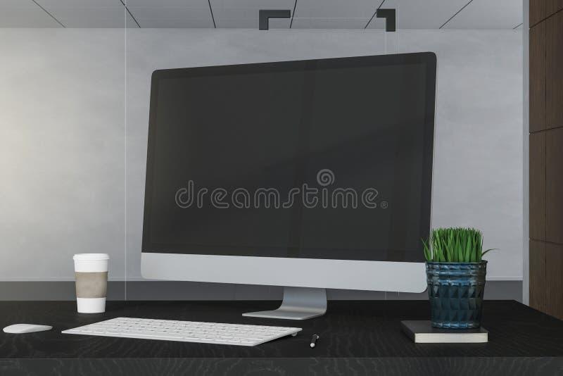 Δημιουργικός υπολογιστής γραφείου σχεδιαστών ελεύθερη απεικόνιση δικαιώματος