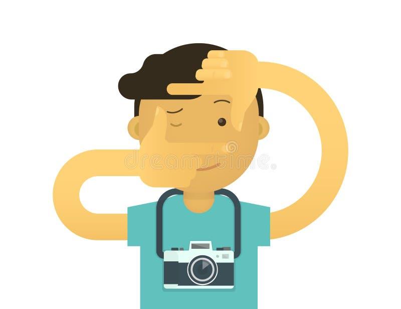 Δημιουργικός φωτογράφος απεικόνιση αποθεμάτων