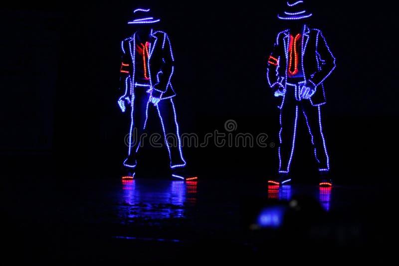Δημιουργικός χορός με τα φω'τα στοκ εικόνες