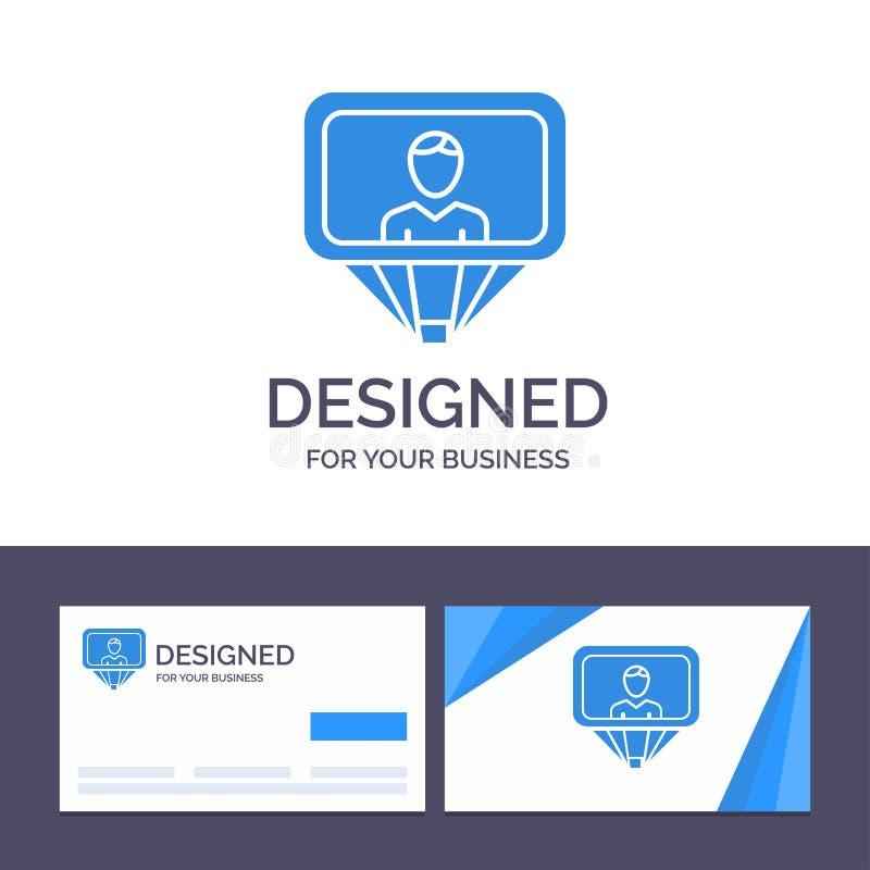 Δημιουργικός χρήστης προτύπων επαγγελματικών καρτών και λογότυπων, σχεδιάγραμμα, ταυτότητα, διανυσματική απεικόνιση σύνδεσης ελεύθερη απεικόνιση δικαιώματος