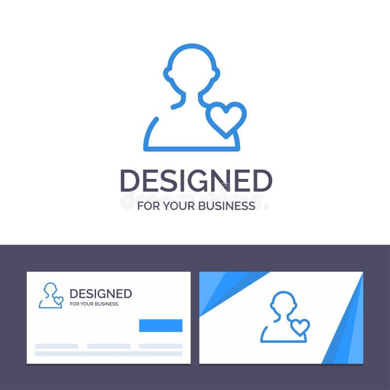 Δημιουργικός χρήστης προτύπων επαγγελματικών καρτών και λογότυπων, αγάπη, διανυσματική απεικόνιση καρδιών απεικόνιση αποθεμάτων