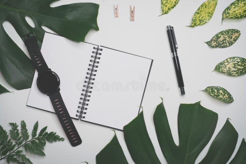 Δημιουργικός flatlay με το αντικείμενο μόδας στο άσπρο υπόβαθρο στοκ εικόνες