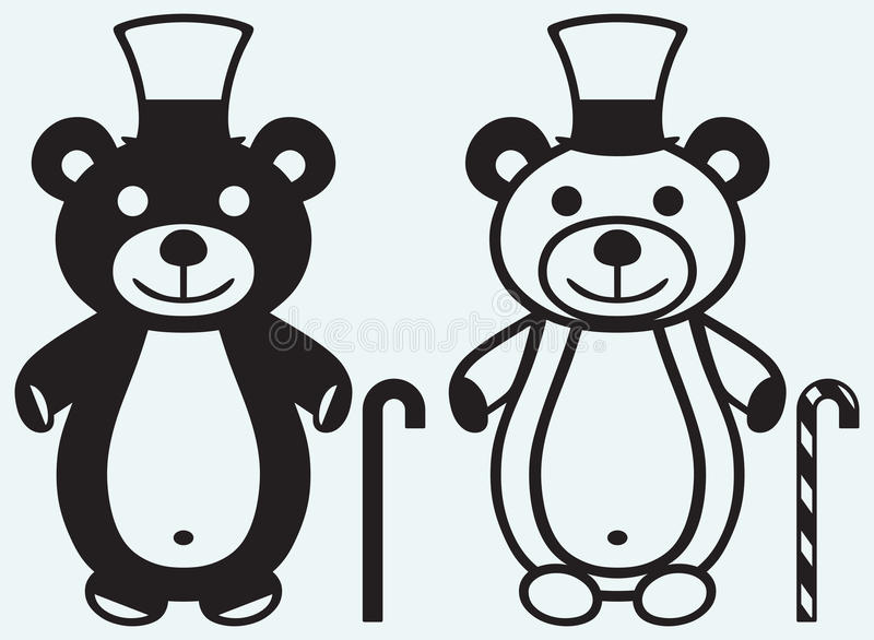 Δημιουργικός teddy αντέχει ελεύθερη απεικόνιση δικαιώματος