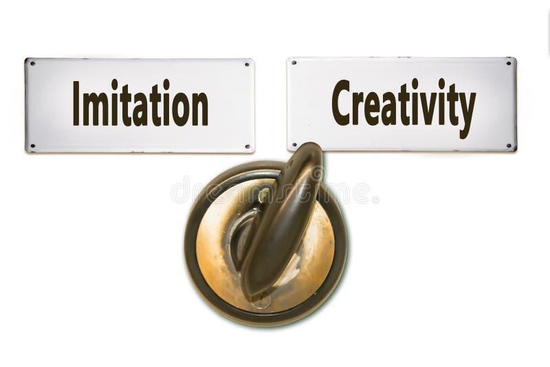 Δημιουργικότητα σημαδιών οδών εναντίον της μίμησης απεικόνιση αποθεμάτων