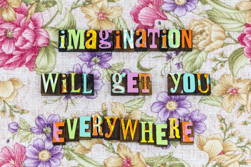 Δημιουργικότητα φιλοδοξίας φαντασίας παντού στοκ εικόνα