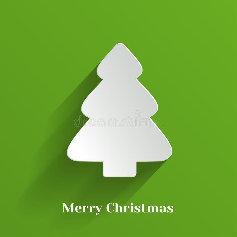 Δημιουργικό άσπρο χριστουγεννιάτικο δέντρο διανυσματική απεικόνιση