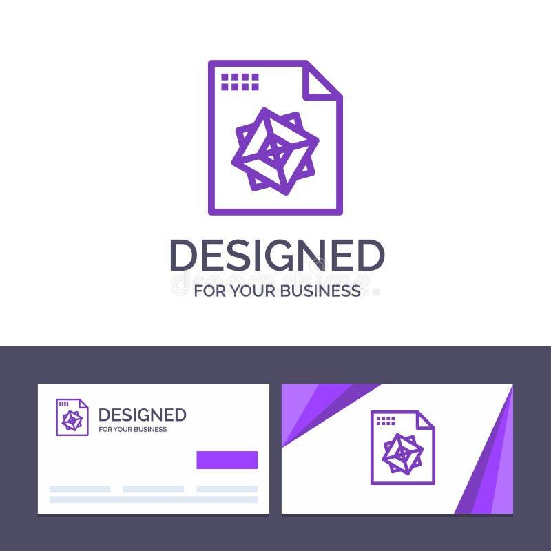 Δημιουργικό αρχείο προτύπων επαγγελματικών καρτών και λογότυπων, επεξεργασία, τρισδιάστατος, διανυσματική απεικόνιση σχεδίου διανυσματική απεικόνιση