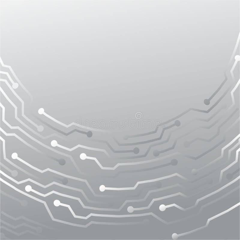 Δημιουργικό ασημένιο σχέδιο μετάλλων έννοιας διανυσματική απεικόνιση