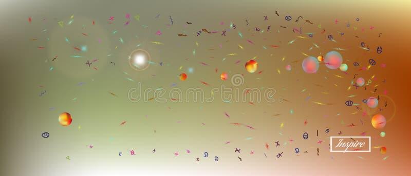Δημιουργικό αφηρημένο εξαιρετικά ευρύ διαστημικό υπόβαθρο στοκ φωτογραφία με δικαίωμα ελεύθερης χρήσης