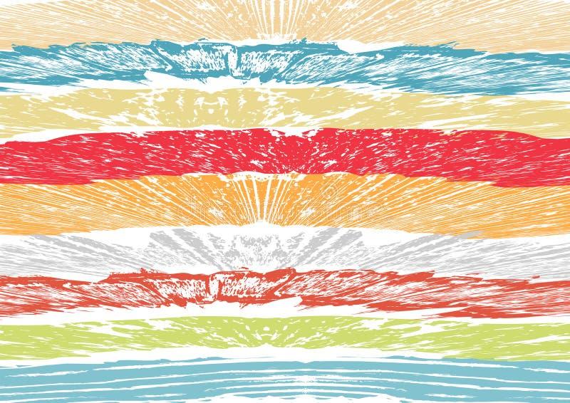 Δημιουργικό αφηρημένο κατασκευασμένο υπόβαθρο Ζωηρόχρωμο επίχρισμα σχέδιο αναδρομικό τέχνη απεικόνιση αποθεμάτων