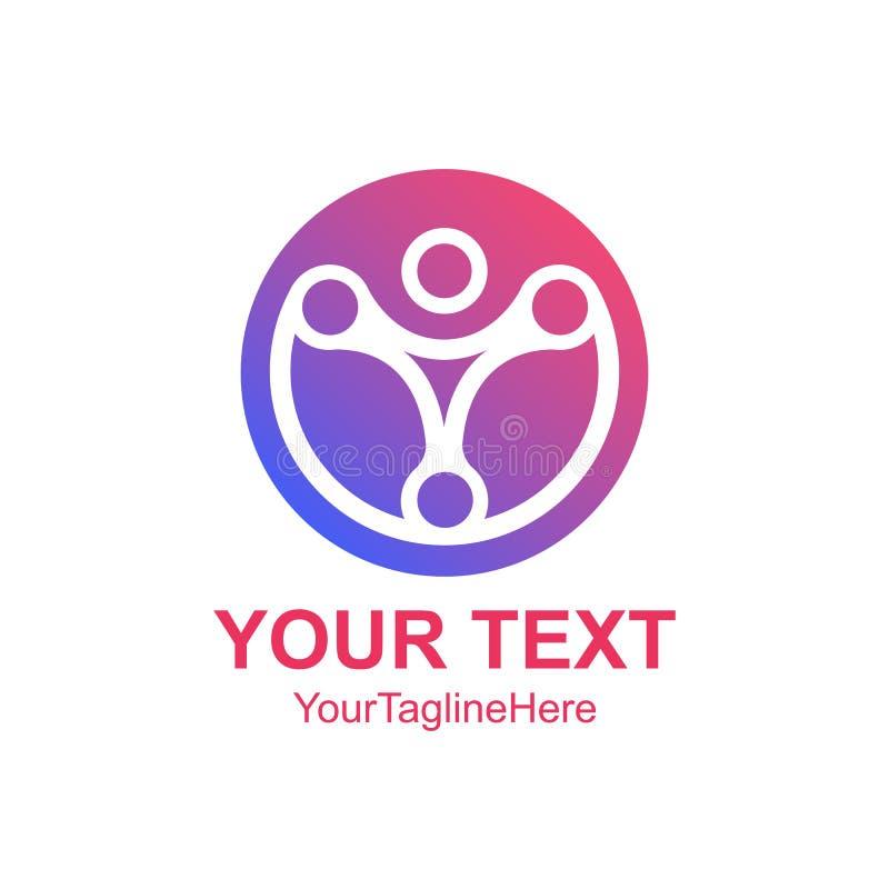 Δημιουργικό αφηρημένο κύκλων πρότυπο σχεδίου λογότυπων τεχνολογίας ανθρώπινο διανυσματικό ελεύθερη απεικόνιση δικαιώματος