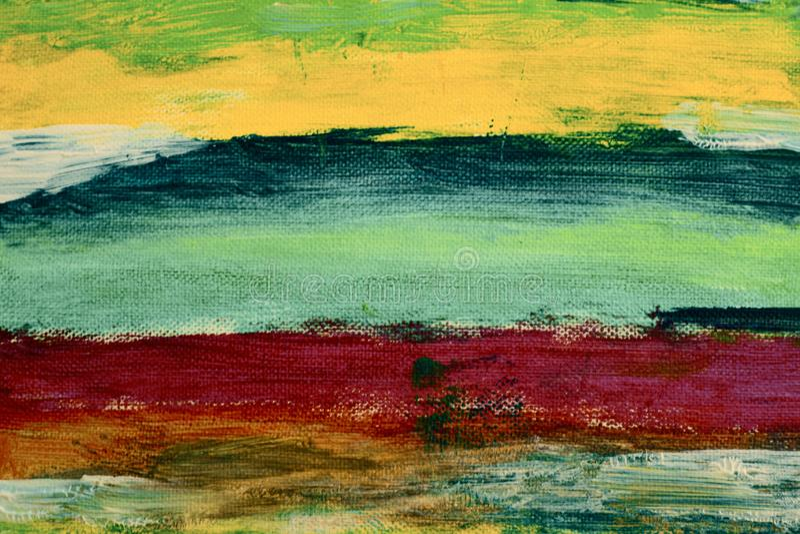 Δημιουργικό αφηρημένο χρωματισμένο χέρι υπόβαθρο Ακρυλικά κτυπήματα ζωγραφικής στον καμβά τέχνη μοντέρνα απεικόνιση αποθεμάτων