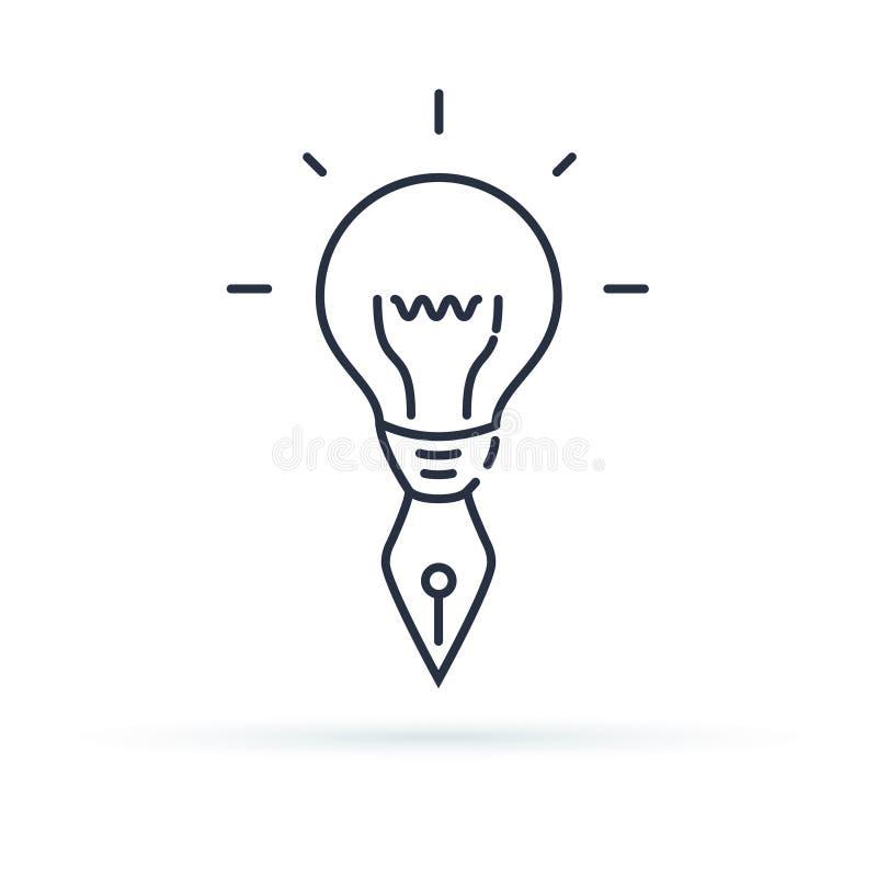 Δημιουργικό εικονίδιο Επίλυση δημιουργικότητας, φαντασίας ή προβλήματος με την έννοια εικονιδίων γραμμών δύναμης μυαλού λεπτά, απ ελεύθερη απεικόνιση δικαιώματος