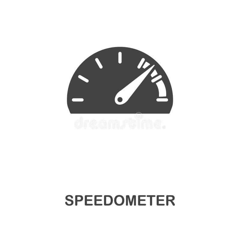 Δημιουργικό εικονίδιο ταχυμέτρων Απλή απεικόνιση στοιχείων Σχέδιο συμβόλων έννοιας ταχυμέτρων από τη συλλογή μερών αυτοκινήτων Μπ διανυσματική απεικόνιση