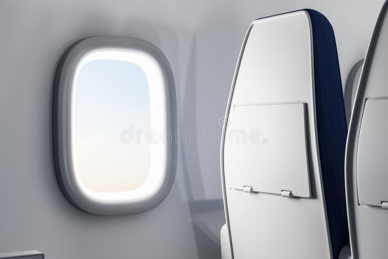 Δημιουργικό εσωτερικό αεροπλάνων διανυσματική απεικόνιση